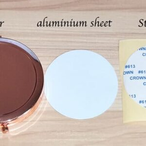 Rose Gold Compact Mirror – Sublimation