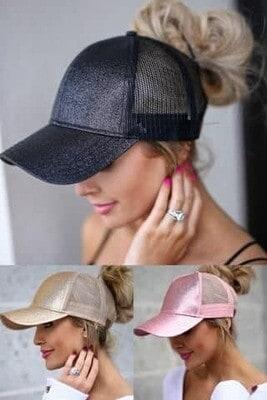 Glitter Ponytail Hat