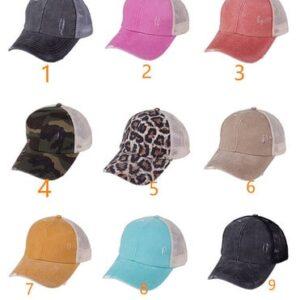 Criss Cross Ponytail Hat – Adult