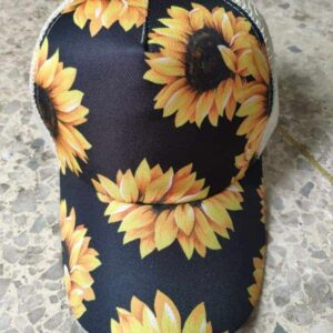 Adult Pattern Criss Cross Ponytail Hat