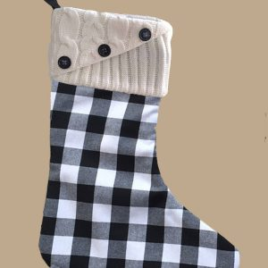 Knit Top Plaid Stockings Pre Order