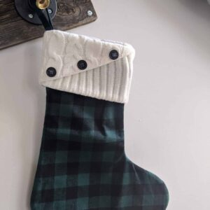 Knit Top Plaid Stockings