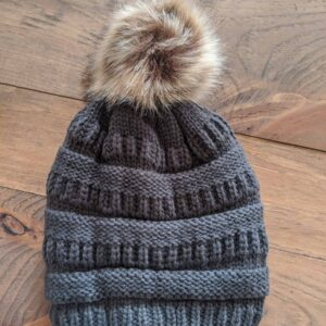Lined Winter Hats with Pom Pom
