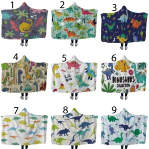 Dinosaur Hooded Blankets In Stock