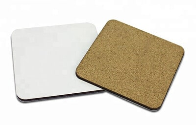 MDF Cork Backed Sublimation Coasters – 10 pack