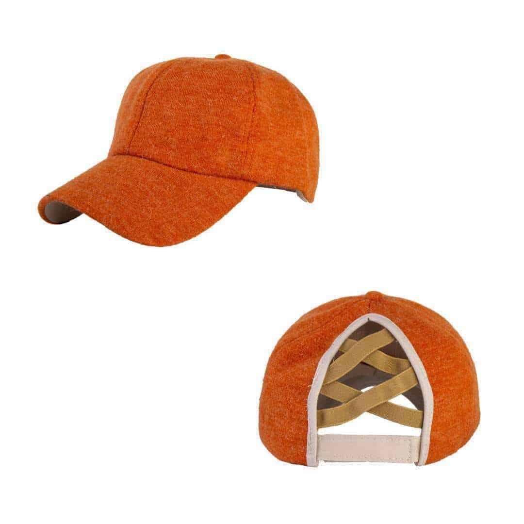 Criss Cross Ponytail Hat – Adult – Fall Wool