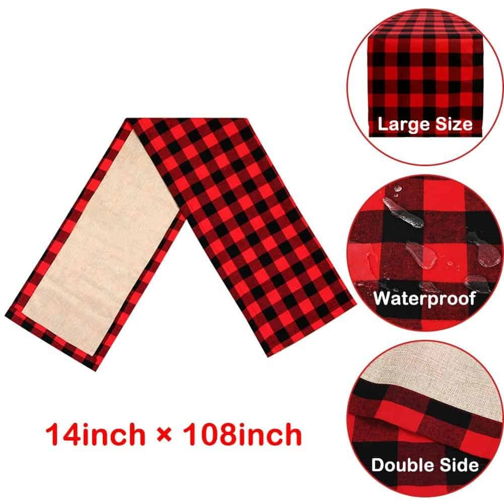 Buffalo Plaid Table Runner