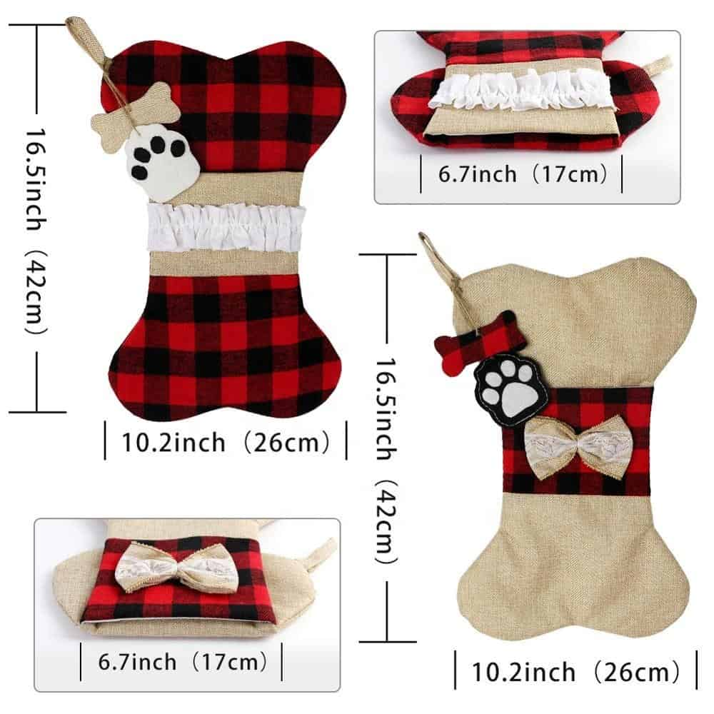 Buffalo Plaid Dog Stocking
