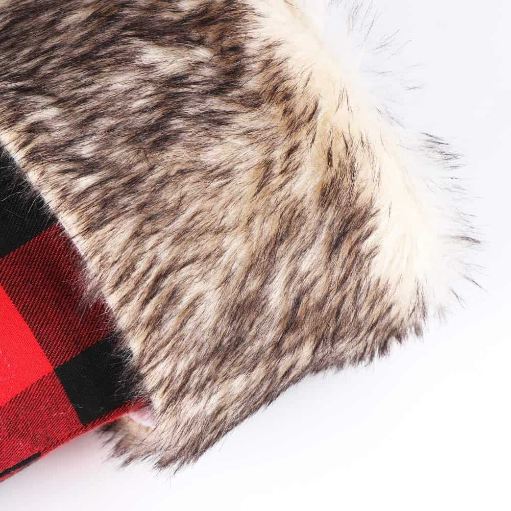 Buffalo Plaid Fir Topped Stocking
