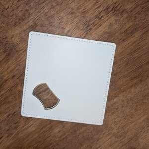 Sublimation Leather Wrapped Bottle Opener Coaster