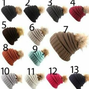 Slouch Hats with Pom Pom
