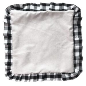 Plaid Ruffle Pillow Cover – Sublimation