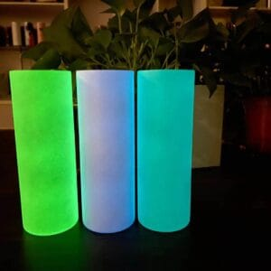 20oz STRAIGHT Skinny Glow in the Dark Sublimation Tumblers