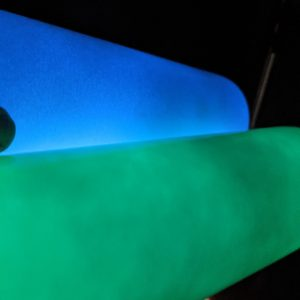 Glow in the Dark 20oz STRAIGHT Skinny Sublimation Tumbler White to Green or White to Blue