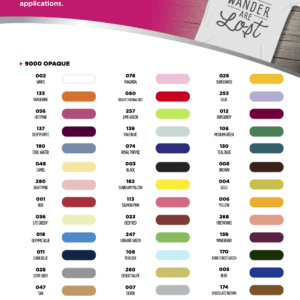 Opaque Heat Transfer Vinyl (Solid Colours)