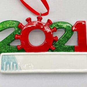 2021 Covid Needle Ornament