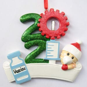 2021 Covid Stacked Needle and Vaccine Ornament