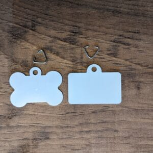 Aluminum Dog Tag Bone and License Package of 10